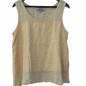 Flax Linen Simple Tank Top